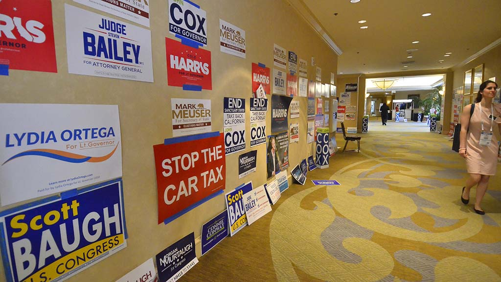 California Republican political signs