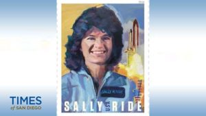 Sally Ride is pictured on Forever stamp.