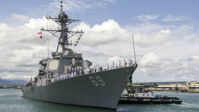 USS Milius arrives in Pearl Harbor
