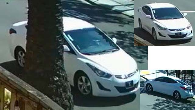 Photos of suspect's car in Grant Hill attack