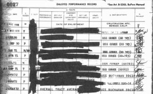 Portion of Randy Voepel service records, indicating assignments in 1969 and 1970. (PDF)
