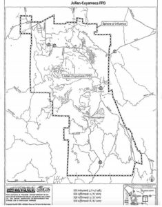 Map of Julian-Cuyamaca Fire Protection District.