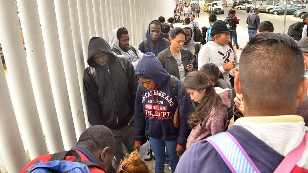 People from Mexico, Africa and Central America were on the list to apply for asylum on Saturday.