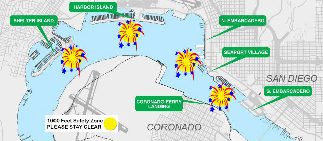 Big Bay Boom fireworks locations