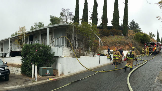 Mobile home that burned