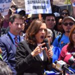 Sen. Kamala Harris speaks at Otay Mesa rally