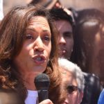 Sen. Kamala Harris speaks at Otay Mesa rally.