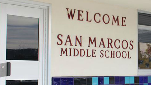 Entrance to San Marcos Middle School