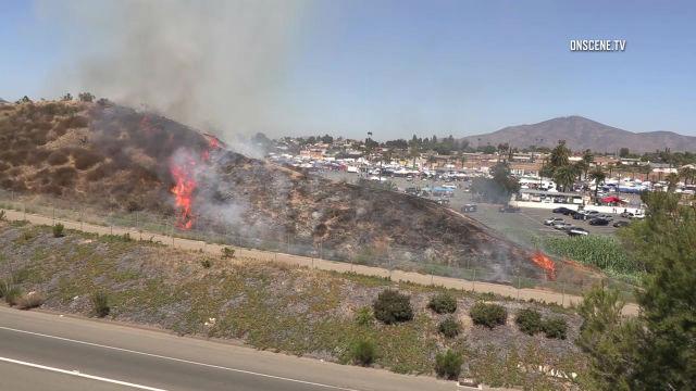 Spring Valley brush fires