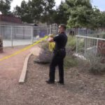 Police with police tape
