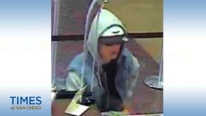 Image from Chase Bank surveillance video of bank robber.
