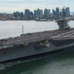 USS Carl Vinson leaves San Diego