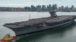 USS Carl Vinson leaves San Diego