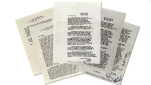 Mostly typed letters from L. Ron Hubbard to Russell Hays are being sold at auction Thursday.