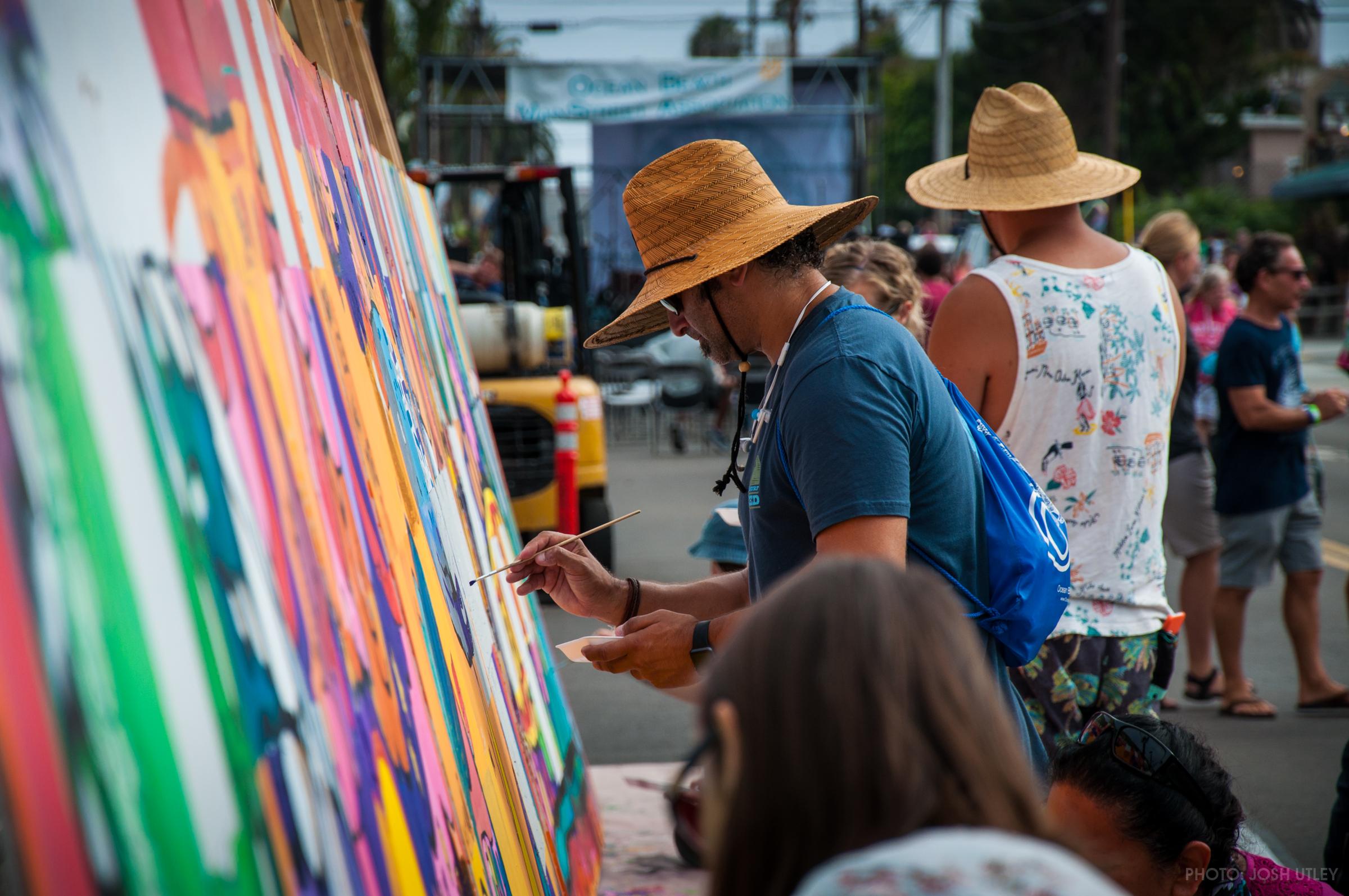 Citizens Create Their Masterpieces During The 2017 Street Fair In Ocean Beach Photo Mainstreet Ociation