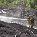 Santee brush fire