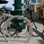 Steel bicycle racks