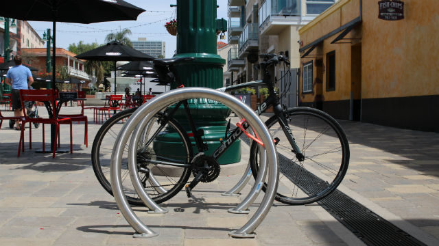 Steel bicycle racks