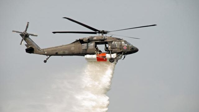 Blackhawk firefighting helicopter