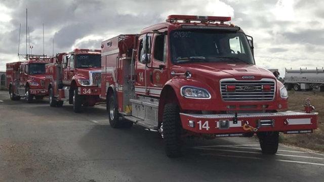 Buschfeuer in der Nähe von SR94 In Oak Park Schnell Heraus Gestellt
