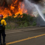 Firefighters battle Camp Pendleton blaze