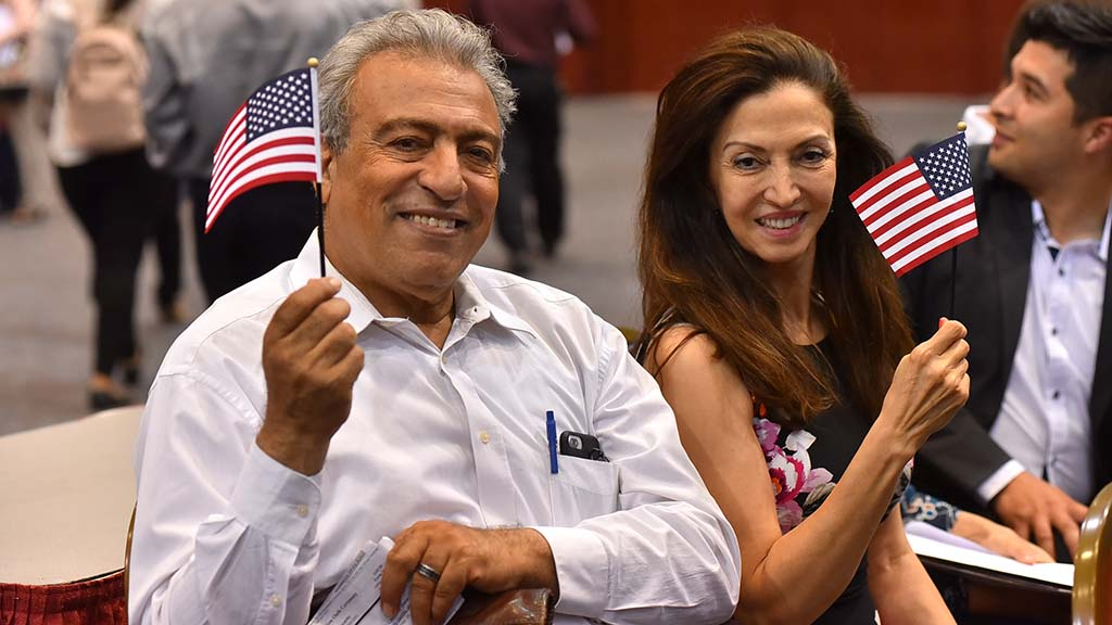 Mansour Khodami and his wife Sedighe studied at Mesa College and his wife who wants to work in the medical field became citizens.