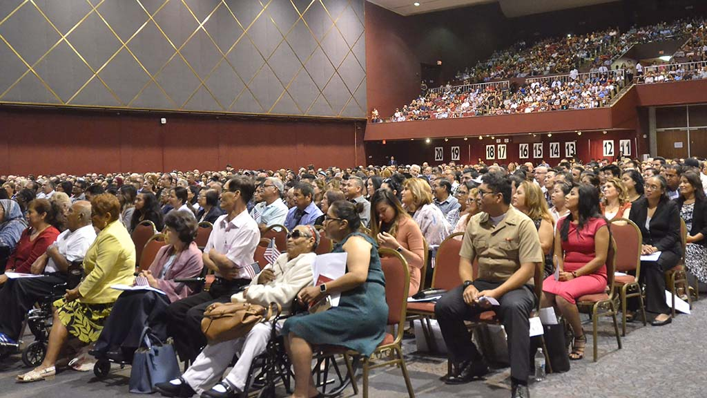 More than 1,000 people representing 75 countries were sworn in as new citizens in San Diego at Golden Hall.