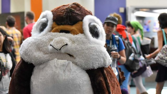 Andrea Seale of Burbank is Porg from Star Wars.