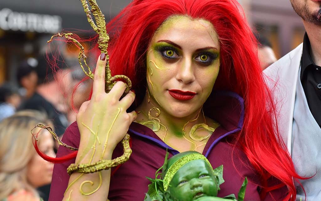 Marlyne Hurtado is Poison Ivy at Comic-Con on Saturday.