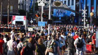 Comic-Con crowd in the Gaslamp