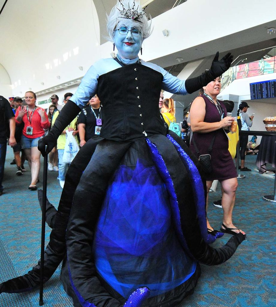 Bill Jahnel of San Diego is Ursula of the Little Mermaid.