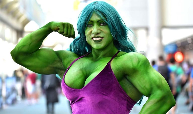 Isabelle Turell of Indiana is She Hulk. Turell is IFBB professional body builder.