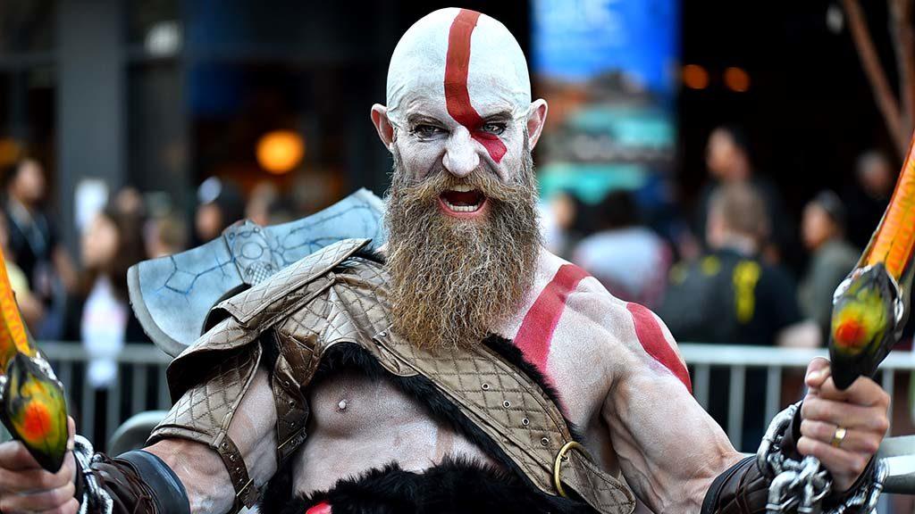 Dan Langley of Tulsa, Oklahoma is Kratos, God of War.