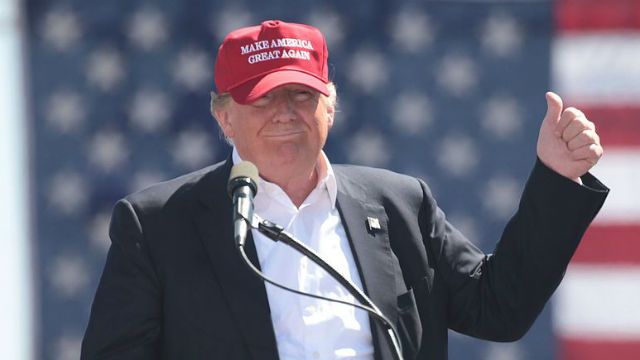 President Trump in MAGA hat