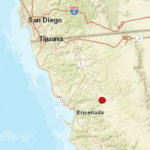 Earthquake locations near Ensenada