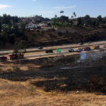 Burned area along Interstate 8