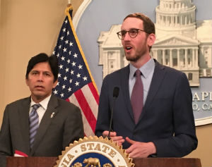 Kevin de Léon and Scott Wiener