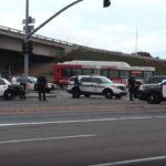 Police examine crime scene