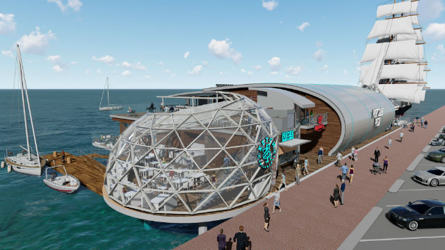 Portside Pier rendering