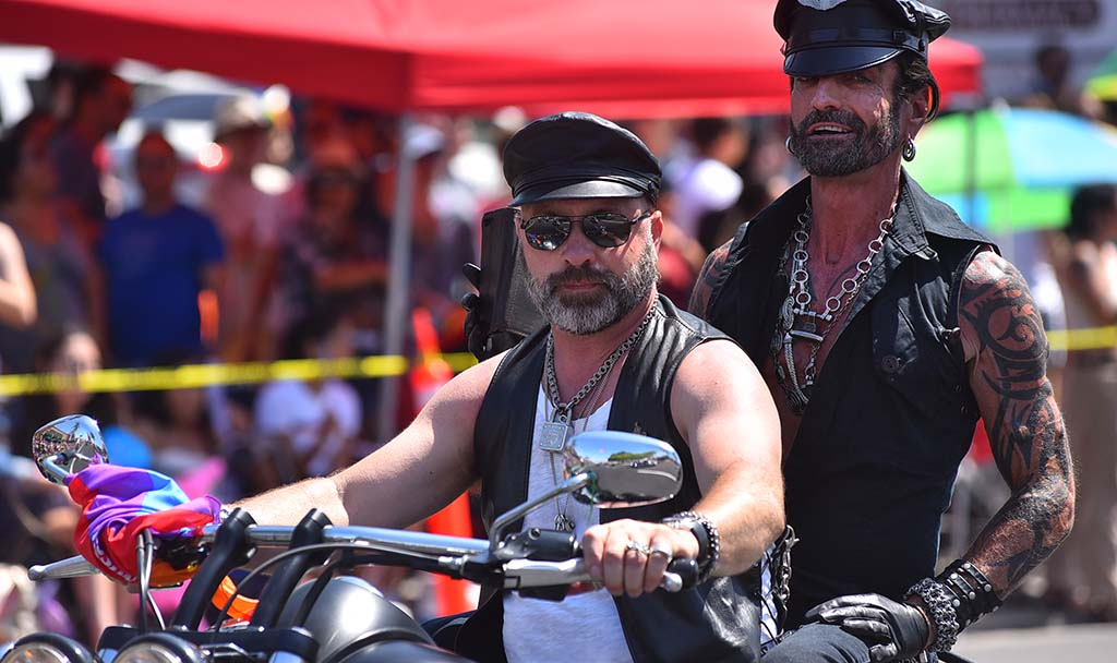 Bikers lead off the San Diego Pride Parade 2018 in Hillcrest.