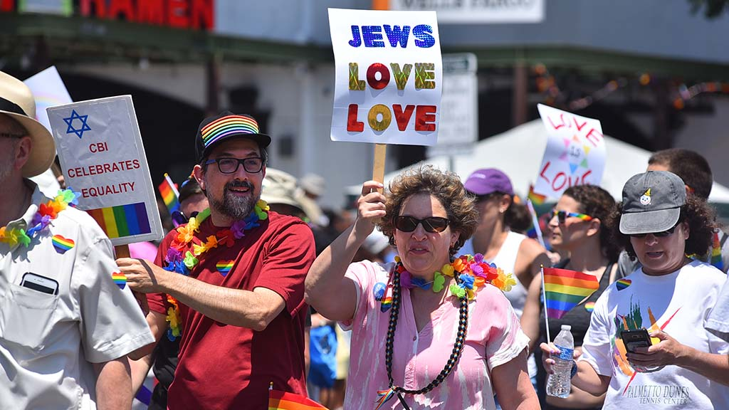 Religious groups show their support during the San Diego Pride Parade in Hillcrest.