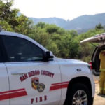 Cal Fire vehicles and personnel