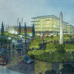 Rendering of SDSU Mission Valley campus