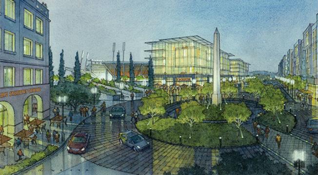 Rendering of SDSU Mission Valley campus
