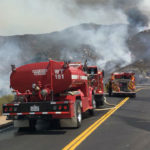 Fire trucks on Route 78