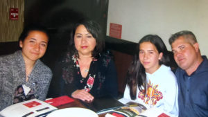 Sergio Hernandez with his family