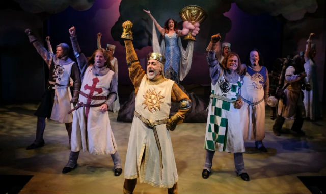 "King Arthur and his knights in ""Spamalot:"
