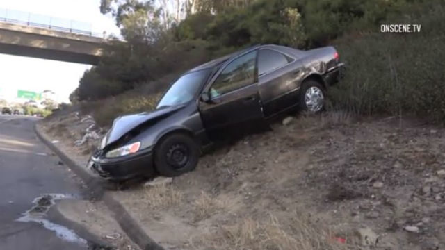 Wreckage of Toyota Camry