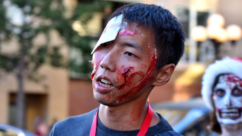 Zombies of all ages and backgrounds took part in 12th annual walk (except for 2015 cancellation).