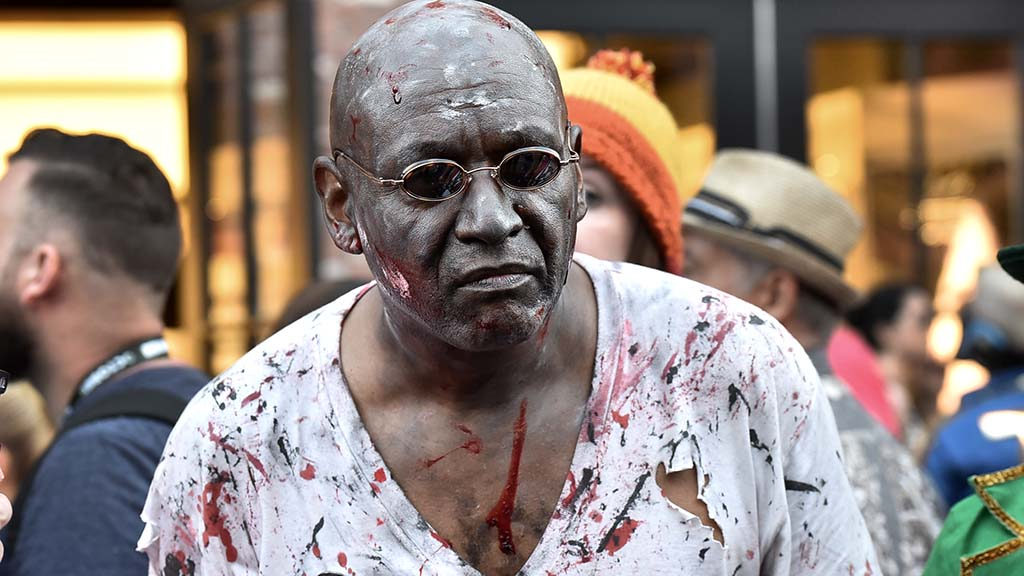 Torn shirts and bloody faces were default for America's Finest Zombies.